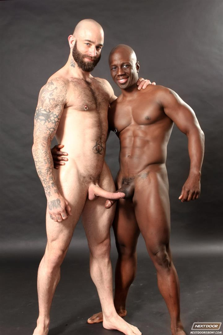 Muscular black alpha male with huge dick breeding.