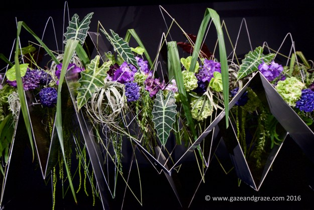 One of the international floral designs at the Floral Windows to the World display