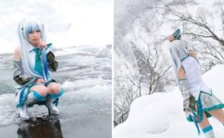 コスプレ|伊藤ひな『初音ミク/Snow Miku』雪景色の3次ボカロ写真
