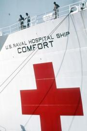 Red Cross of Hospital Ship USNS Comfort