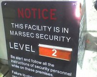 MARSEC Level 2 Sign - ISPS