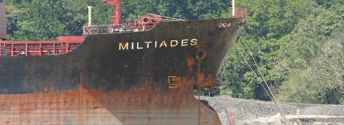 bulker Miltiades bow damage