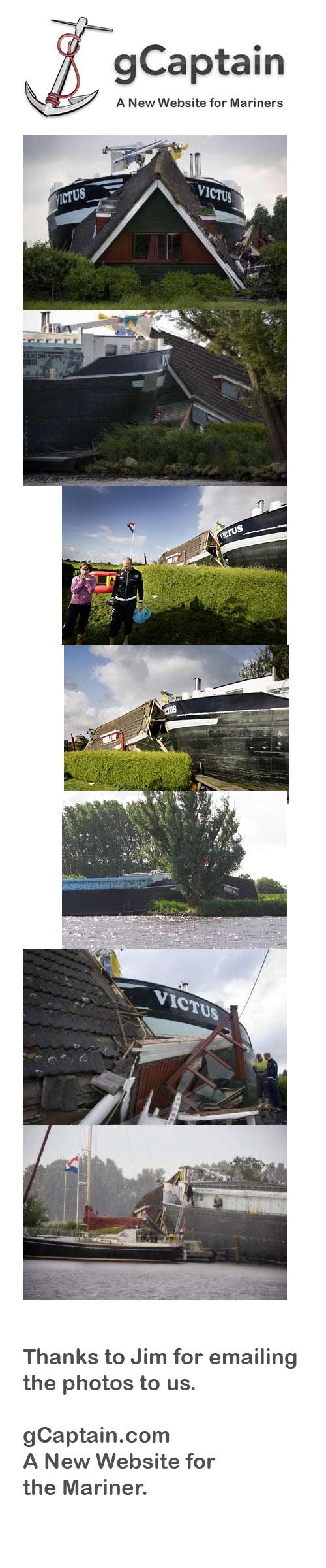 Ship Runs Into House - Maritime Incident