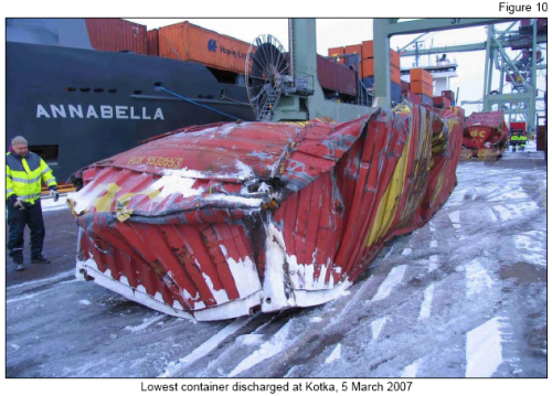 Crushed Shipping Container
