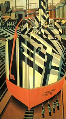 Dazzle Ship Painting