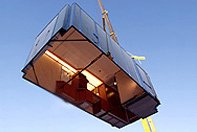 Modular Cabin ( stateroom ) lifted by crane