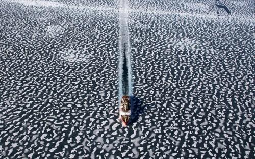 Ship In A Field Of Ice By  Yann Arthus-Bertrand
