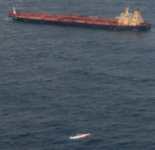 Vendee Globe capsize of Jean Le Cam - Rescue Tanker Sonangol Kassanje