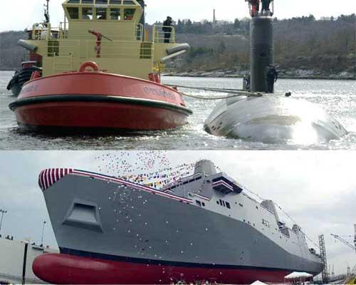 USS New Orleans & USS Hartford