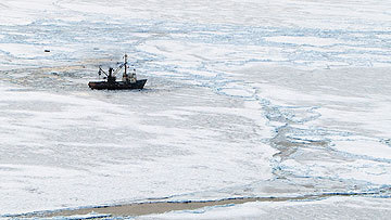 Russian Ship Smolninsky Stuck In Ice