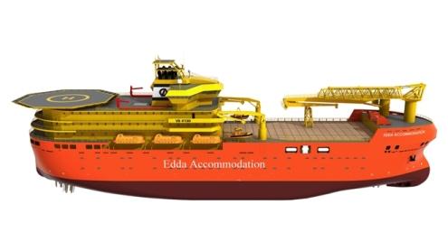 Edda Fides-Offshore-Accomodation-Ship FloTel - hotel boat
