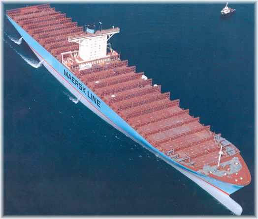 Emma Maersk Arial View
