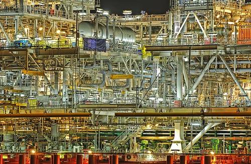 HDR Photo of Korean Shipyard - FPSO