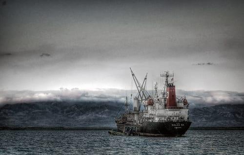 ship In Tsunami