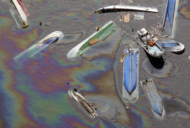 JApan Tsunami Oil Spill