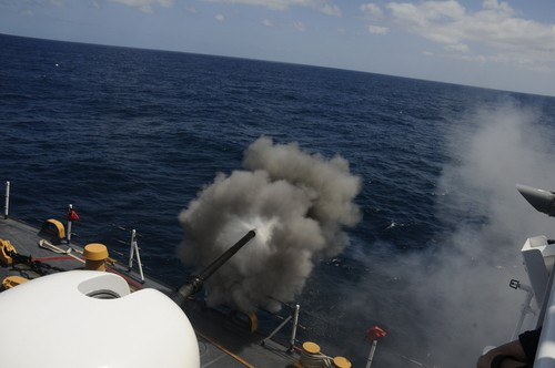 USCG Cutter Gunnery-exercise