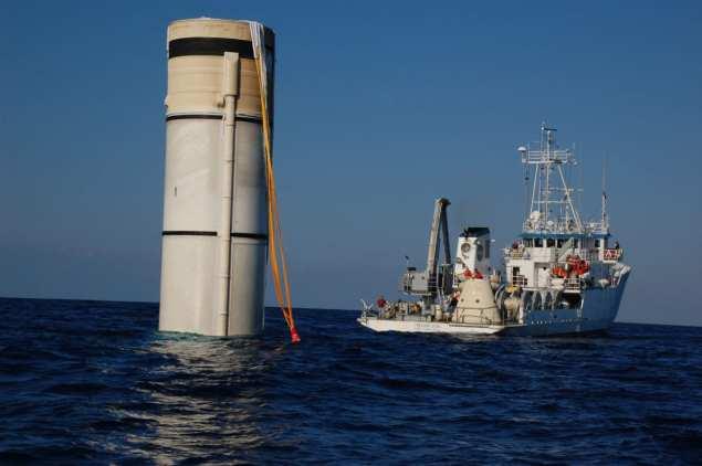 NASA Booster Recovery Ship