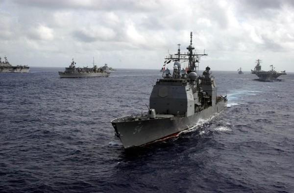 US Navy cruiser exercise battlegroup tandem thrust