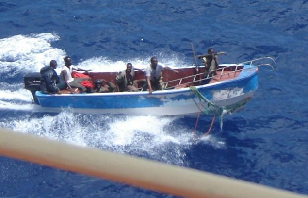 File photo of pirates off the coast of Somalia.  Photo via IMO