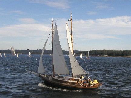 Puritan Maine Maritime sailing sailboat penobscot bay