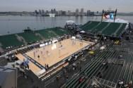 Ship Photo of the Week – USS Carl Vinson Hosts Spartans vs Tar Heels Basketball Game