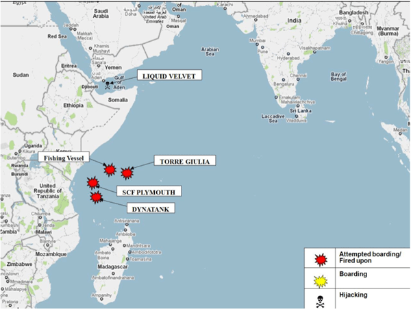 Indian ocean piracy activity somali pirates
