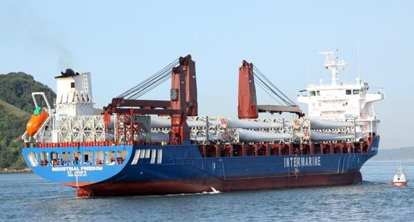 Intermarine project cargo wind turbine blades industrial freedom