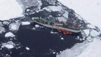 Help Arrives for Stricken Fishing Vessel Stuck in Antarctic Ice