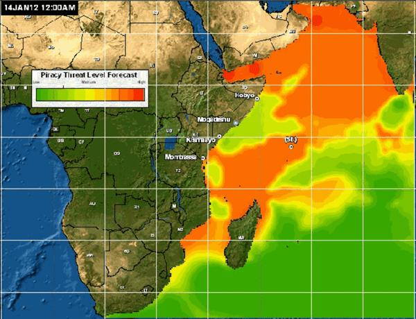 likelihood of pirate activity indian ocean