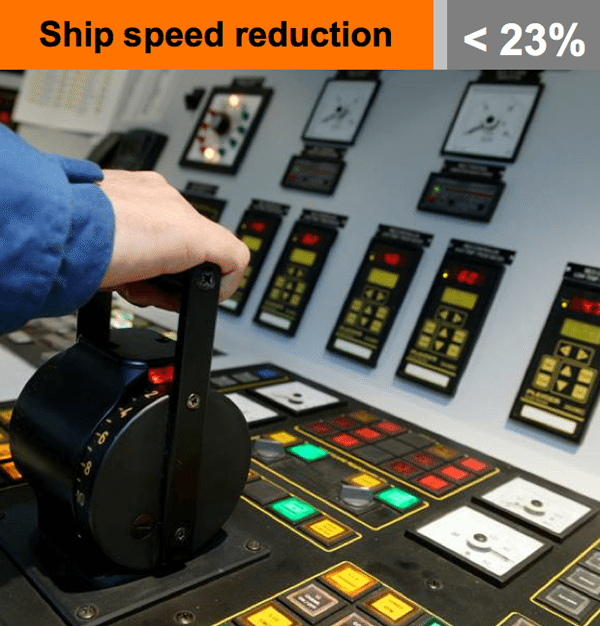 ships speed reduction
