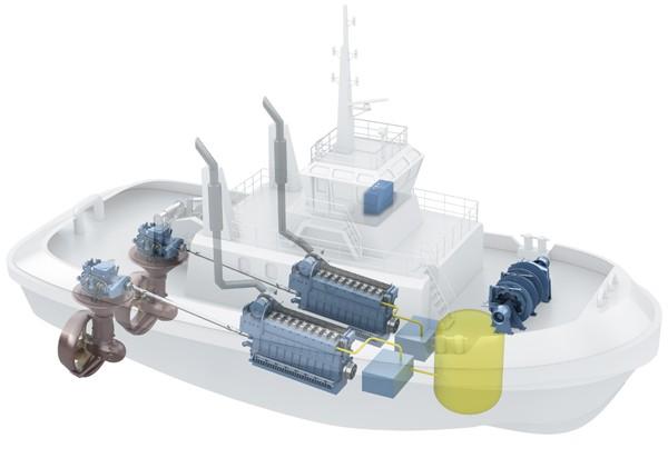 LNG powered tugboat tug rolls-royce