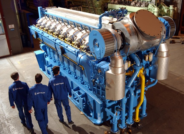 Bergen lean-burn gas engine rolls royce