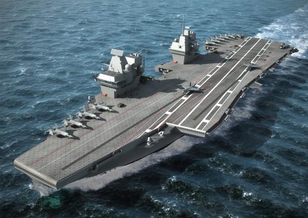 Artists impression British CV aircraft carrier