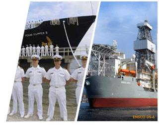 MAINE-MARITIME-TRAINING-SHIP AND ENSCO DRILLSHIP