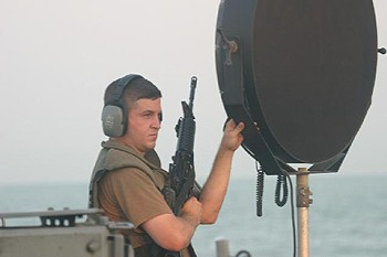 LRAD US Navy Long range acoustic device