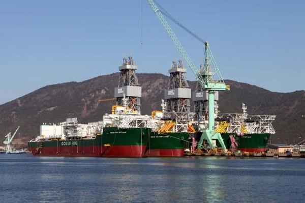 ocean rig sete brasil drillships samsung heavy industries shipyard shipbuilding