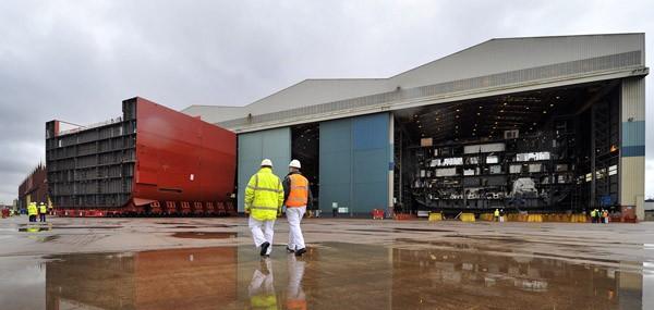 hms queen elizabeth BAE Systems govan shipyard shipbuilding