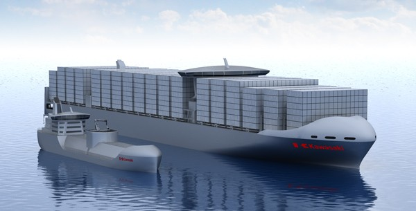 kawasaki heavy industries lng powered containership concept