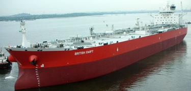British swift oil tanker
