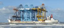Giant Cranes To Stop Traffic On Giant Bridge