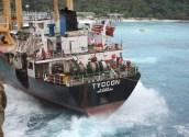 Last Pieces of MV Tycoon Hauled Off Christmas Island