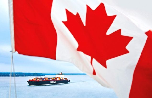 Montreal express hapag lloyd containership canada