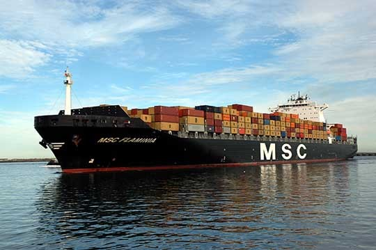 msc flaminia fire