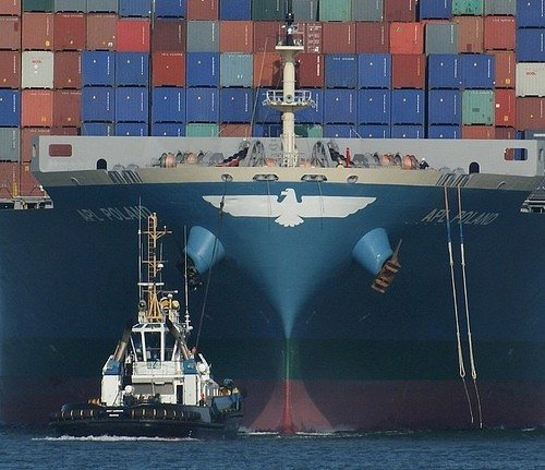containership bow apl poland