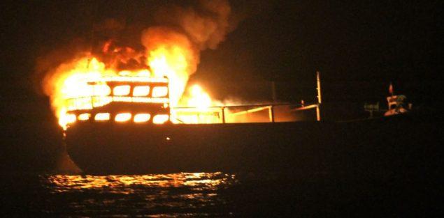 iranian dhow fire uss james e. williams