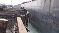 Pier Collapses at Great Lakes Steel Mill