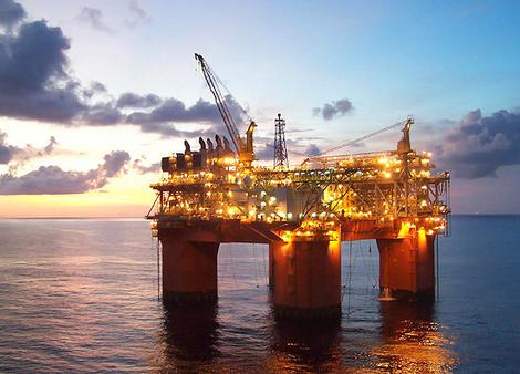 BP's Atlantis platform in deepwater Gulf of Mexico. Photo (c) BP Plc