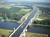 Magdeburg Water Bridge, the World's Longest Navigable Aqueduct