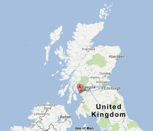 Map of Hunterston, Scotland