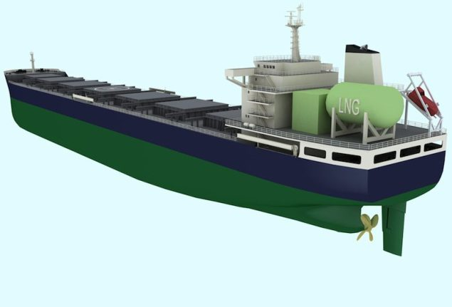 The 'Clean Sky' LNG-fueled bulk carrier design. Image: Lloyd's Register